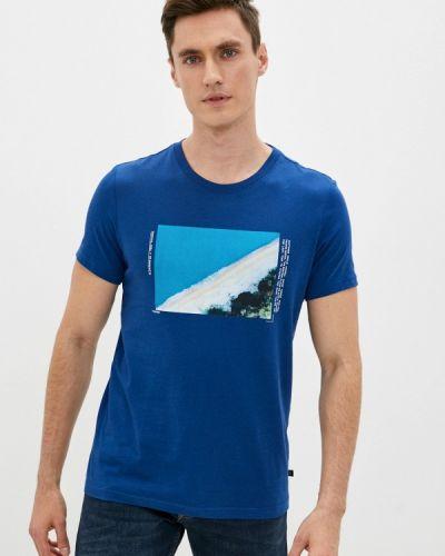 Футболка - синяя Q/s Designed By