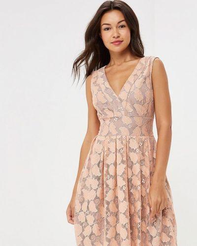 Бежевое платье осеннее Yumi