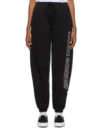 Czarne spodnie bawełniane Noon Goons