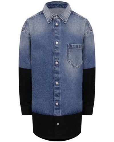 Джинсовая рубашка - синяя Mm6