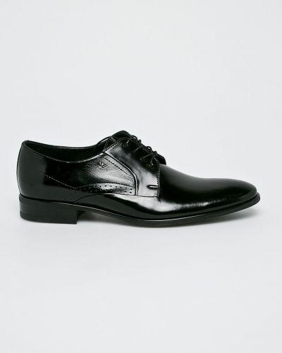 Черные туфли на шнуровке Wojas