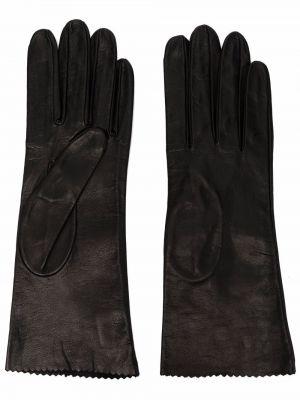 Черные кожаные трусы Manokhi