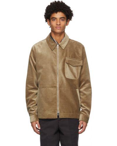 Серебряная длинная куртка из верблюжьей шерсти с воротником с карманами Schnaydermans