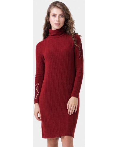 Платье бордовый вязаное Ricamare