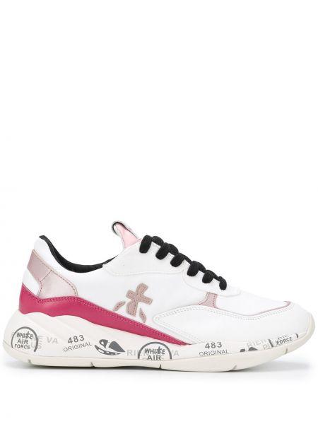 Кожаные кроссовки с логотипом с заплатками Premiata