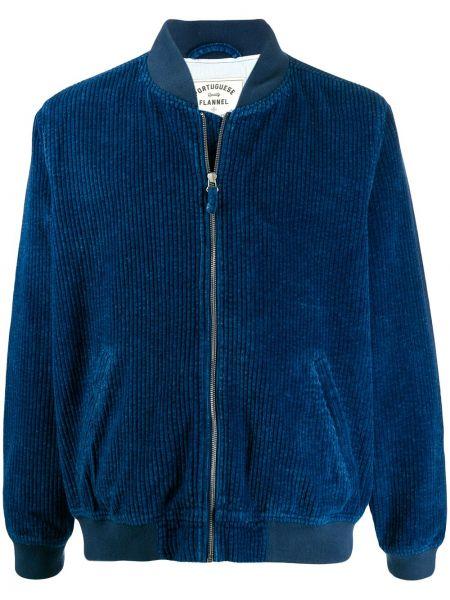 Фланелевая синяя длинная куртка с манжетами Portuguese Flannel