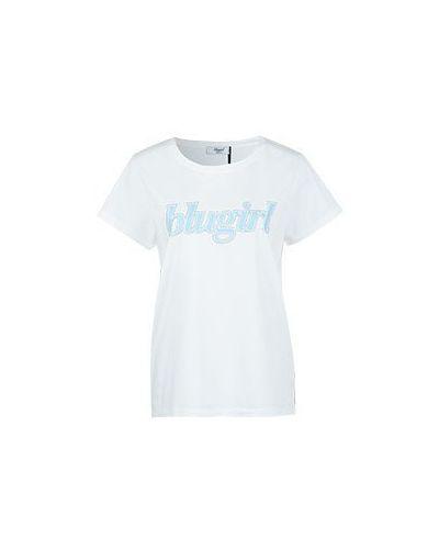 Хлопковая футболка - белая Blugirl