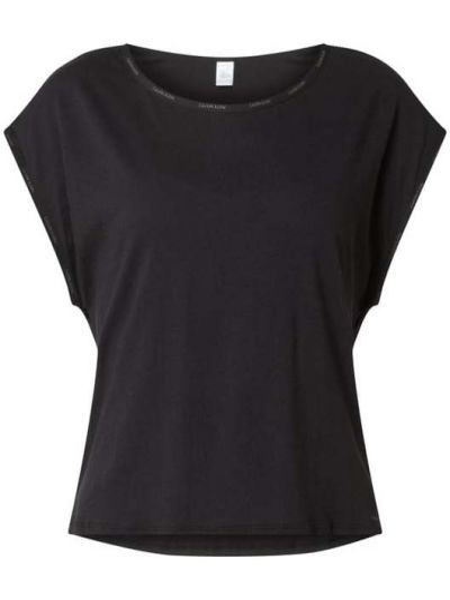 Czarna piżama bawełniana krótki rękaw Calvin Klein Underwear