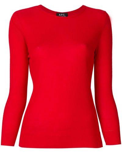 Красный джемпер в рубчик из вискозы A.p.c.
