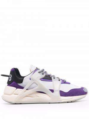 Кожаные кроссовки - фиолетовые Diesel
