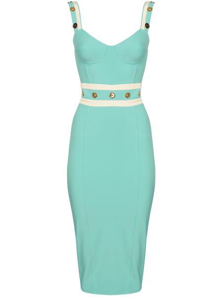 Зеленое платье на молнии Elisabetta Franchi