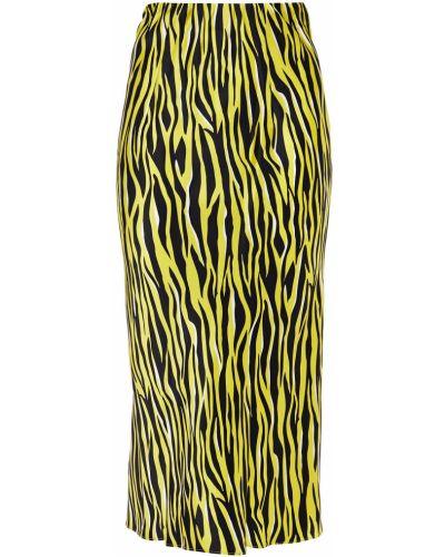 Облегченная сатиновая желтая юбка миди Olivia Von Halle