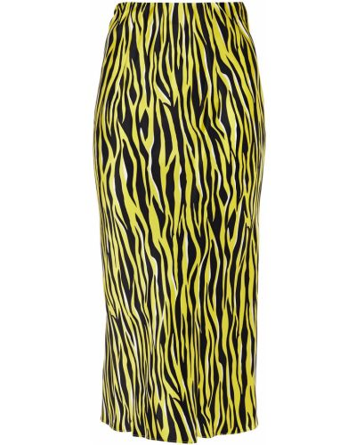 Сатиновая юбка миди - желтая Olivia Von Halle