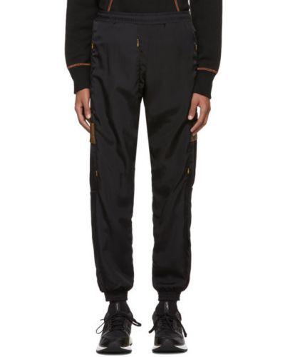 Czarne spodnie z nylonu z siateczką Cottweiler