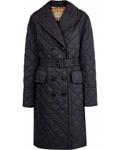 Стеганое пальто с воротником пальто Burberry