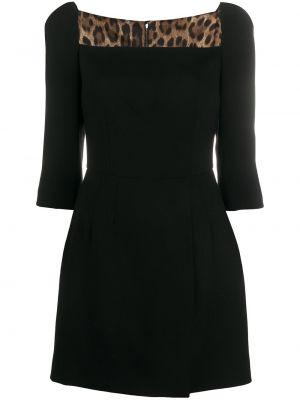 Платье мини короткое - черное Dolce & Gabbana
