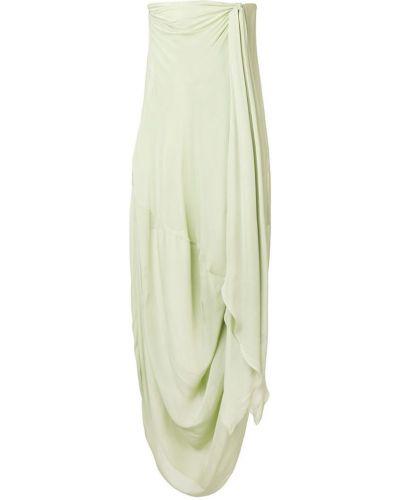 Платье без бретелек с драпировкой Jacquemus