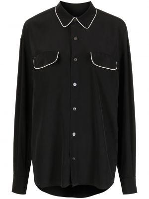 Черная рубашка классическая Equipment