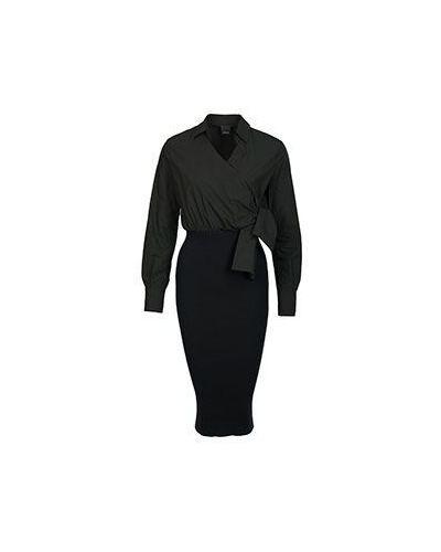 Черное платье хлопковое Pinko
