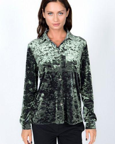 С рукавами зеленая блузка Vestetica