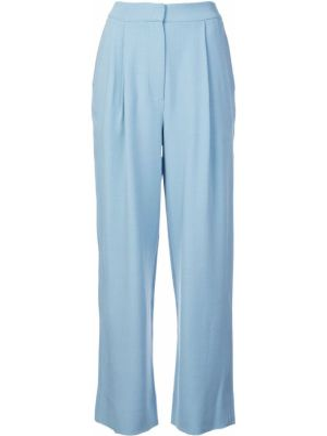 Niebieskie spodnie wełniane Roksanda