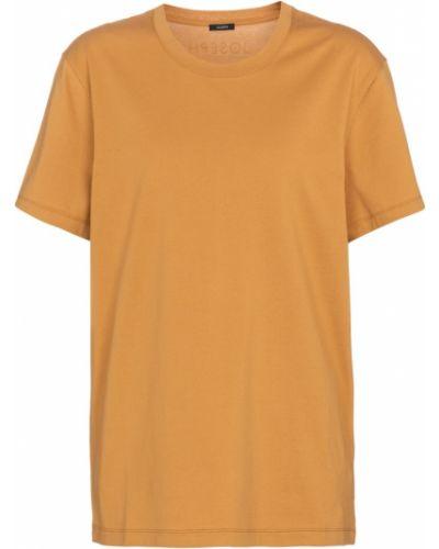 Ватная хлопковая желтая футболка Joseph