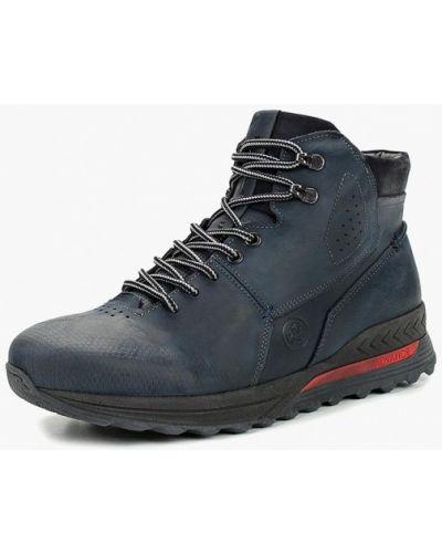 Высокие кроссовки из нубука синий Dino Ricci Trend