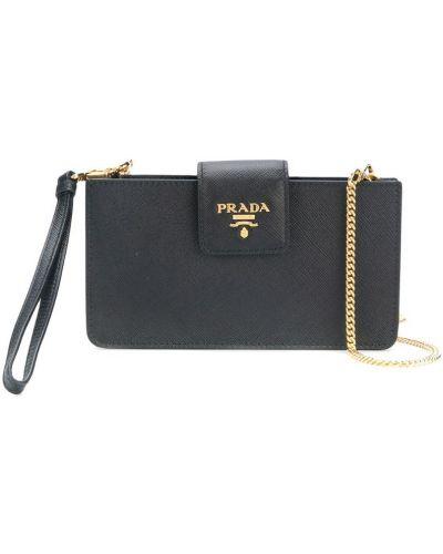 Сумка на цепочке сумка-мешок кожаный Prada