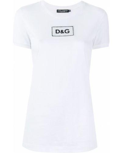 Футболка с пайетками с логотипом Dolce & Gabbana