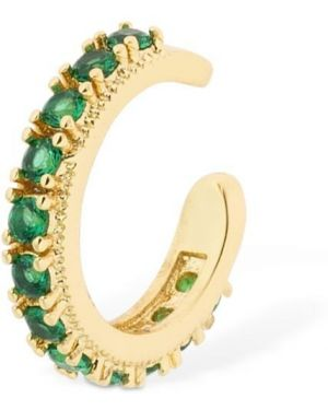 Zielone złote kolczyki ze złota z cyrkoniami Camila Carril