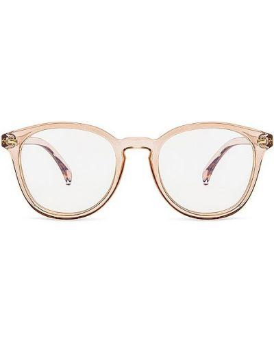 Złote niebieskie okulary vintage Le Specs