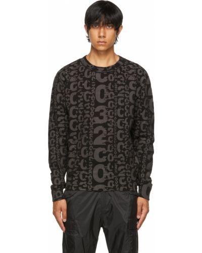 Czarny sweter bawełniany 032c