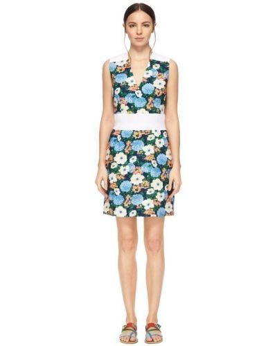 Платье мини с V-образным вырезом Carven