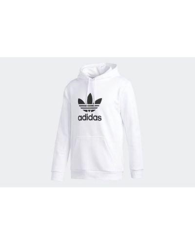 Bluza kangurka - biała Adidas