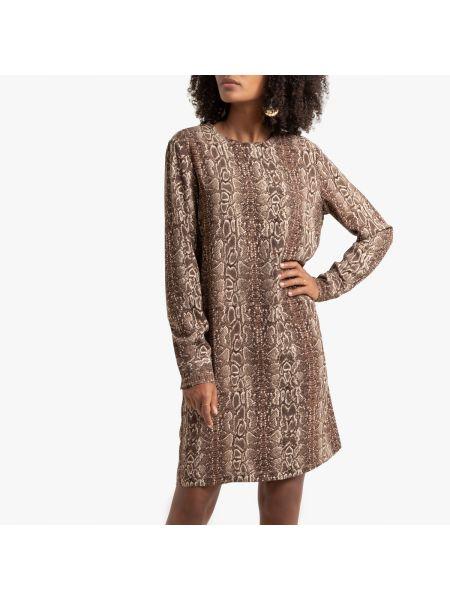 Платье мини на пуговицах с V-образным вырезом La Redoute