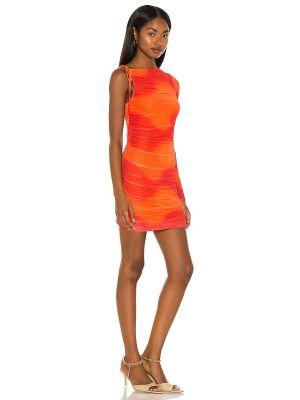 Pomarańczowa sukienka mini z siateczką Camila Coelho
