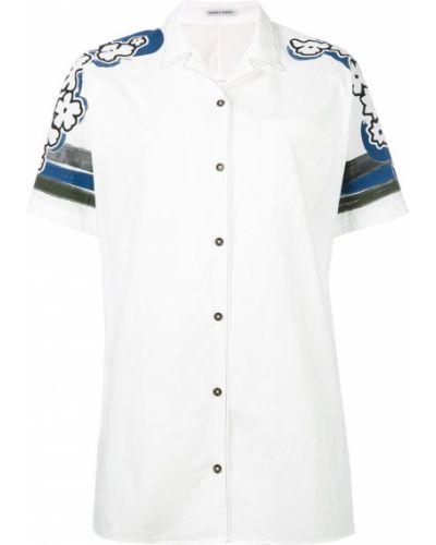 Рубашка с принтом белая Tomas Maier