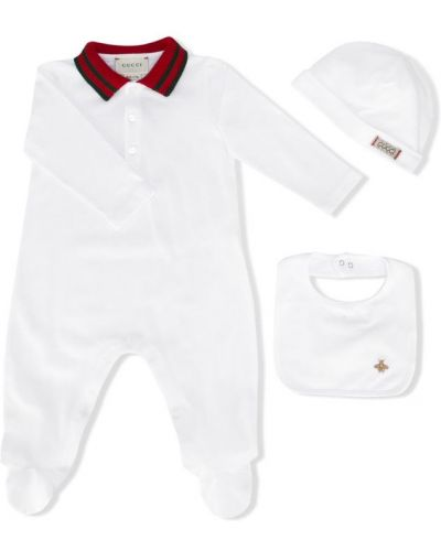 Пижама белая с воротником Gucci Kids