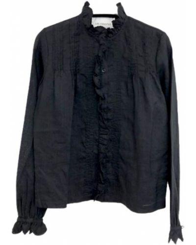 Czarna koszula nocna Les Coyotes De Paris