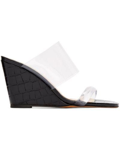 Czarne sandały na koturnie na obcasie Maryam Nassir Zadeh