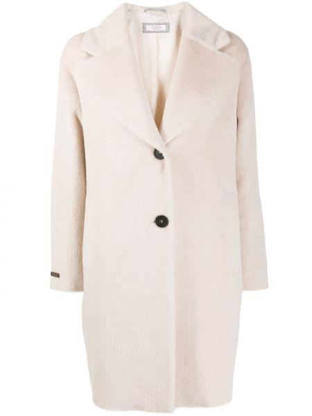Пальто классическое из альпаки с карманами на пуговицах Peserico