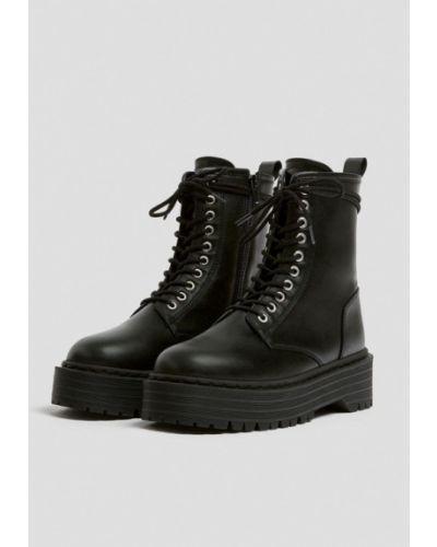 Черные ботинки Pull&bear