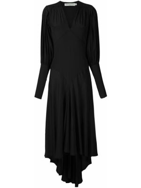 Зауженное платье миди - черное Reinaldo Lourenço