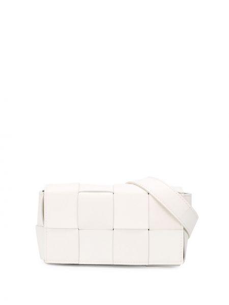 Кожаный белый ремень с поясом Bottega Veneta
