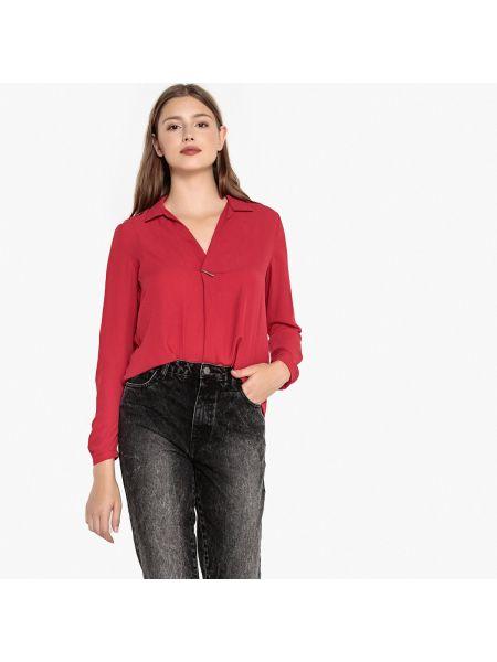 Красная блузка с длинным рукавом с воротником с длинными рукавами Best Mountain