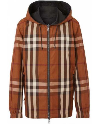 Brązowa kurtka z kapturem bawełniana Burberry