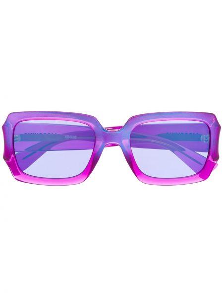 Прямые муслиновые малиновые солнцезащитные очки квадратные Moschino Eyewear