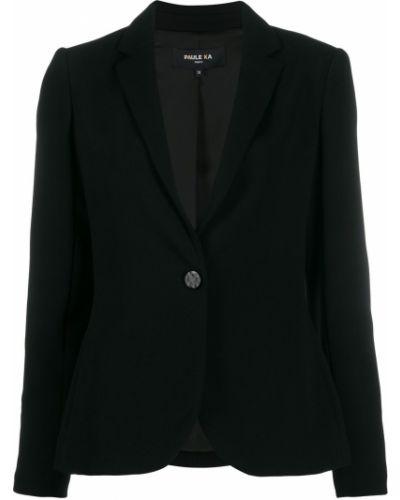 Однобортный черный удлиненный пиджак Paule Ka