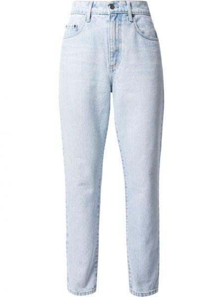 Хлопковые зауженные джинсы классические на молнии Nobody Denim