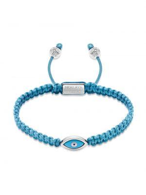 Нейлоновый синий браслет свободного кроя Nialaya Jewelry